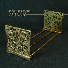 Cast Iron Expandable Book Holder with Devil and Wolf Heads - Art Nouveau 1910