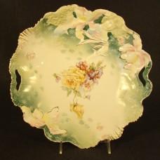 R.S. Prussia Hidden Images Hand Painted Porcelain Bowl