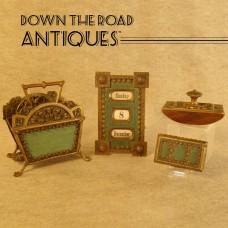 Four Piece Bronze Desk Set with Enameling - 1890's