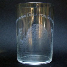 Pan American Exposition Whiskey Glass Souvenir - The Temple of Music