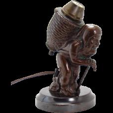 Electric Cigar Lighter - Bronzed Old Pedlar - Rare, 1920's