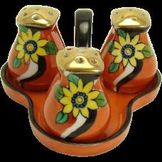 Porcelain Condiment Set - Four Piece - 1930's