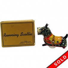 Louis Marx Tin Running Scottie Wind-up Toy - MIB (SOLD)
