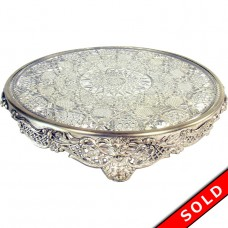 Jewelry Store Plateau with Lion Head Border and Pressed Glass Insert - 1890's (SOLD)