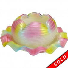 Mount Washington Art Glass Rose Bowl - Satin and Mother of Pearl (SOLD)