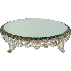 Silver Plated Cut Glass Plateau - 1880's