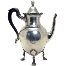 Sterling Silver Individual Teapot Server - 1893