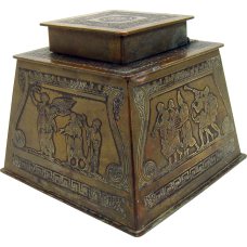 Art Nouveau Bronze Ink Well - c. 1890