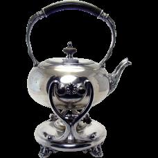 Barbour Silver Plated Tilting Tea Pot Server - 1880's