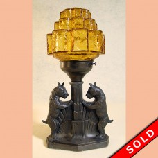 Mood Lamp with Scottie Dogs, Art Deco 1920's (SOLD)