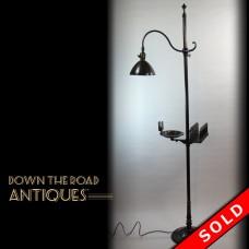 Brass Bradley & Hubbard Adjustable Smoker's Floor Lamp (SOLD)