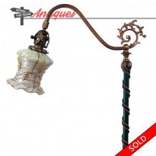 Mosaic Shade Company Floor Lamp with Fostoria Art Glass Shade (SOLD)