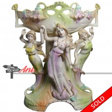 Art Nouveau Bisque Centerpiece with Three Maidens - Occupied Japan (SOLD)