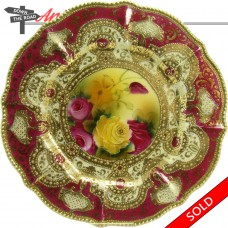 Nippon Hand-Painted Porcelain Plate with Gold Enameling (SOLD)