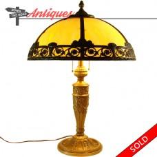 Salem Bros. Caramel Slag Glass Table Lamp - 1920's (SOLD)