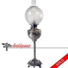 Bradley & Hubbard Banquet Lamp with Etched Globe - 1880's  Victorian (SOLD)