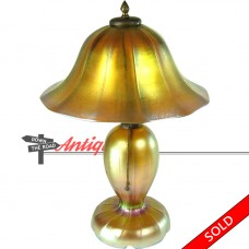Steuben Aurene Iridescent Electric Table Lamp - 1920's (SOLD)