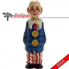 German Tin Creepy Clown Wind-up Toy - Near-mint (SOLD)