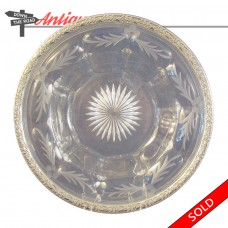 Heisey Cut Glass Sterling Rimmed Bowl (SOLD)