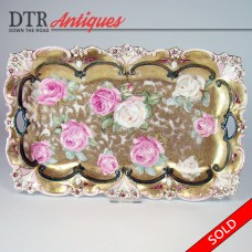R. S. Prussia Floral Porcelain Tray (SOLD)