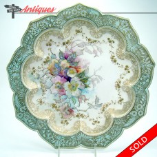 Hand-Painted Doulton Burslem Porcelain Plate with Scalloped Border (SOLD)