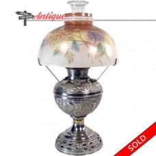 Nickel Plated Bradley & Hubbard Kerosene Lamp - 1880's (SOLD)