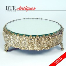 Victorian Silver Plated Beveled Glass Plateau - 1880's (SOLD)