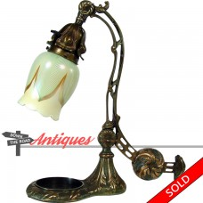Electric Table Lamp with Counter-Balance and Steuben Art Glass Shade - 1920's (SOLD)
