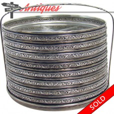 Sterling and Cut Glass Coaster Set with Stand - Eight Pieces (SOLD)