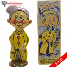 Marx Tin Dopey Dwarf Wind-up Toy - Mint with Near Mint Box (SOLD)