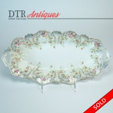 Hand-Painted R. S. Prussia Porcelain Celery Dish (SOLD)