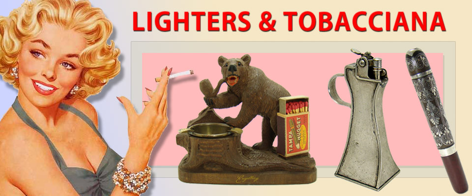 Vintage lighters, tobacciana and smoking accessories